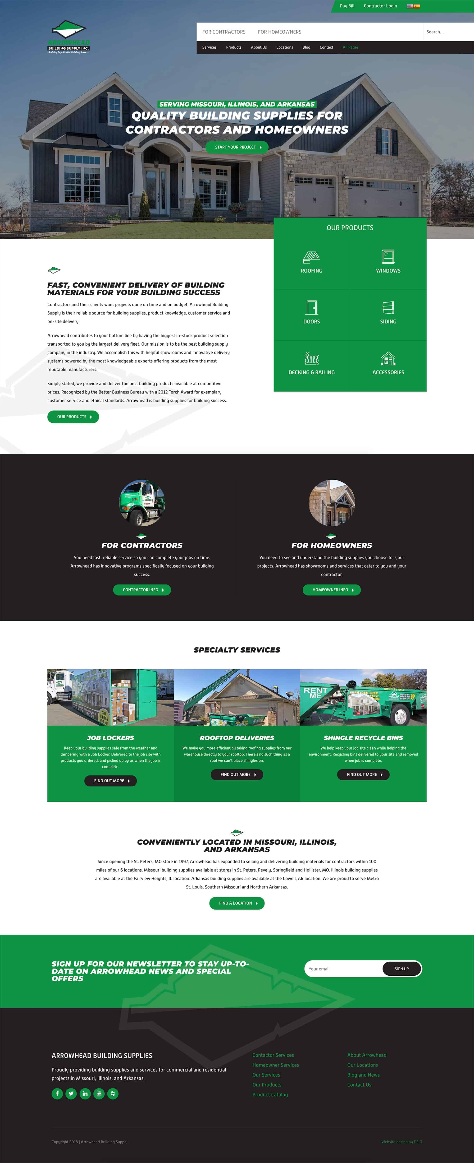 Web Design for Construction Company   Roofing Website Design