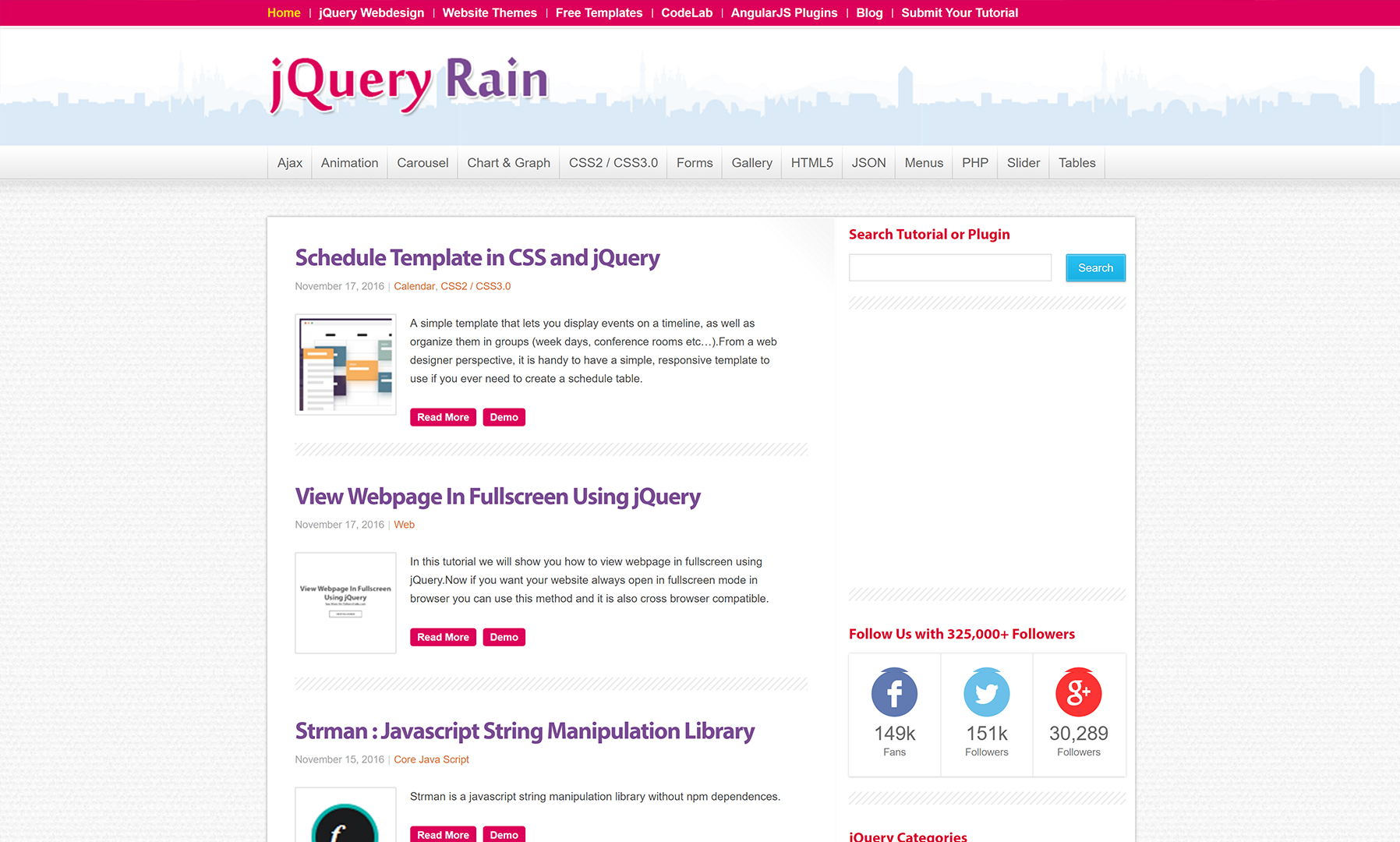 free jquery development resources