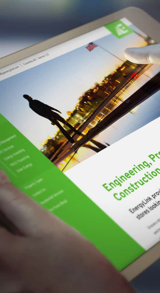 Energylink Web Design by DELT