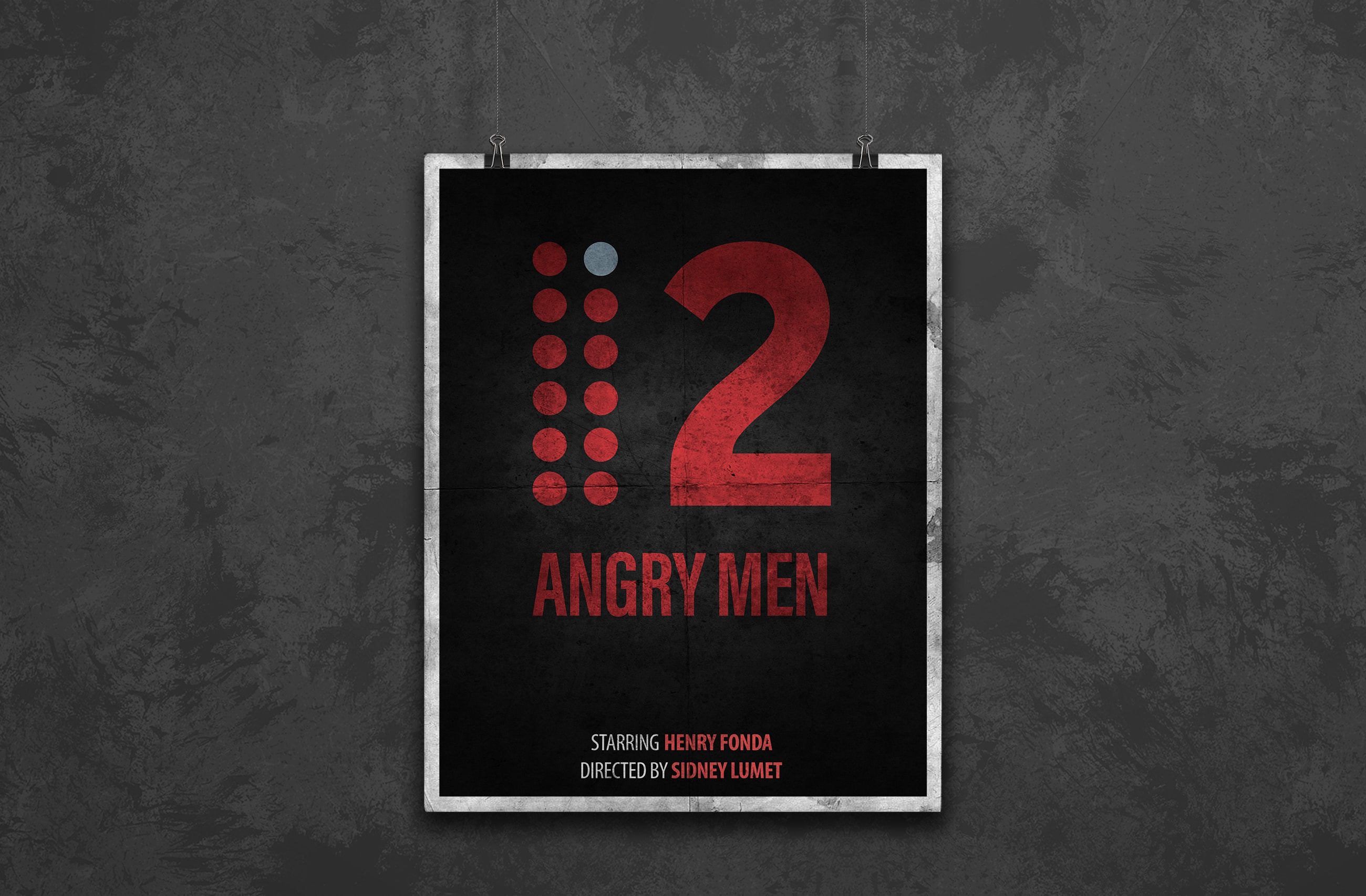 12 angry men minimal poster design