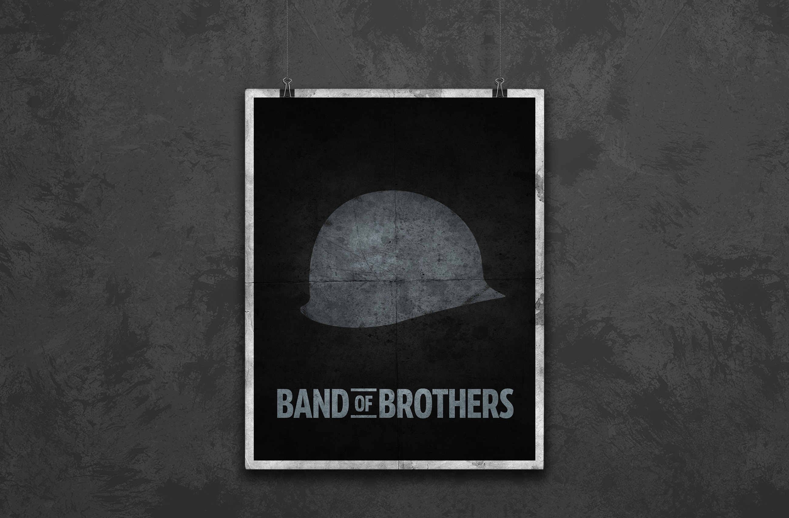 band of brothers minimal poster design