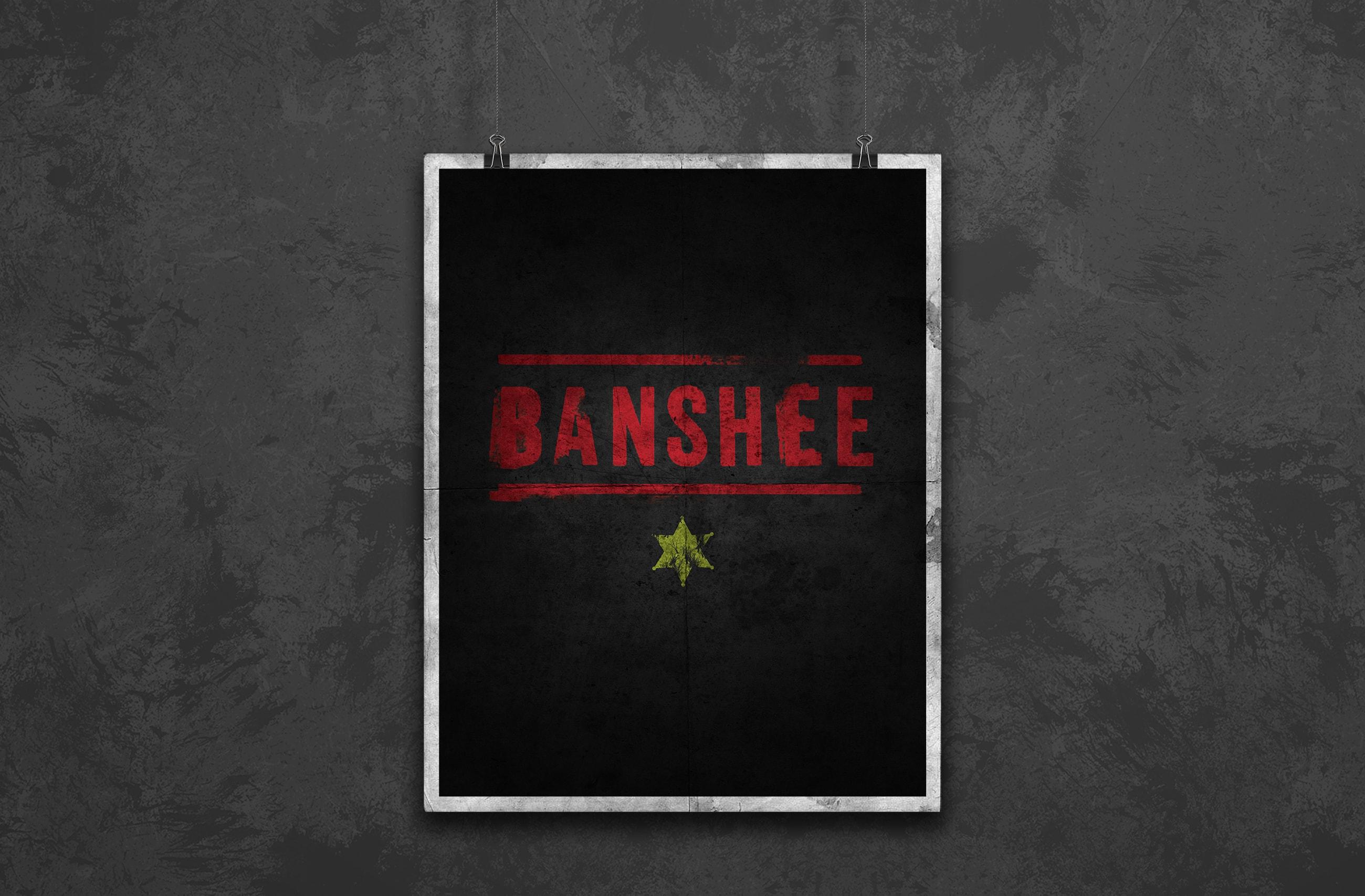 banshee minimal poster design