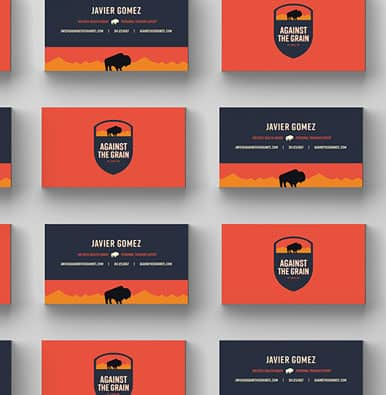 Branding services business card design
