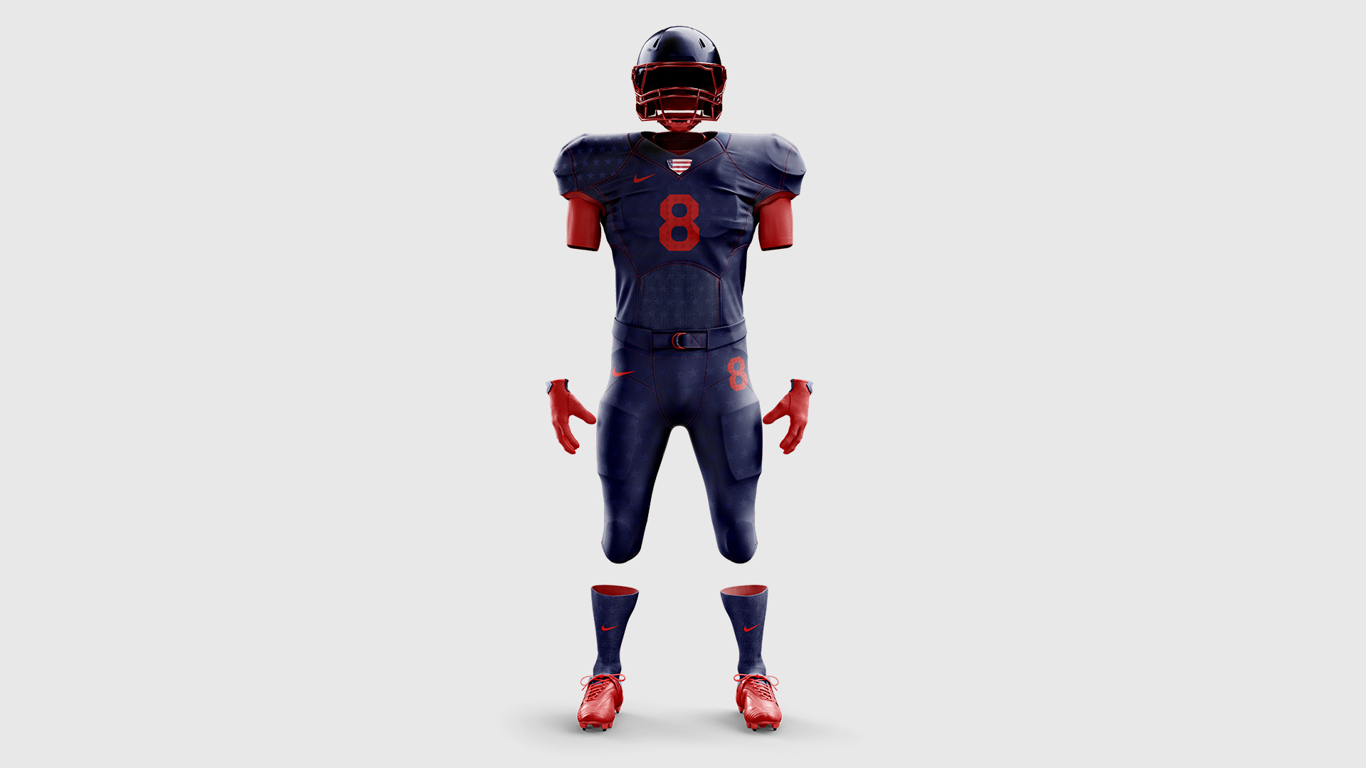 navy nike usa concept football uniform