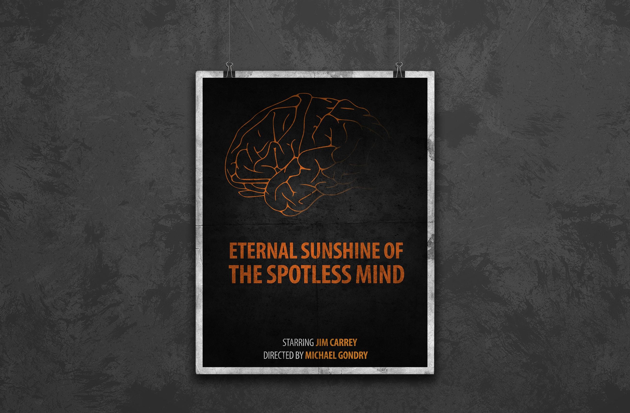 eternal sunshine minimal movie poster design