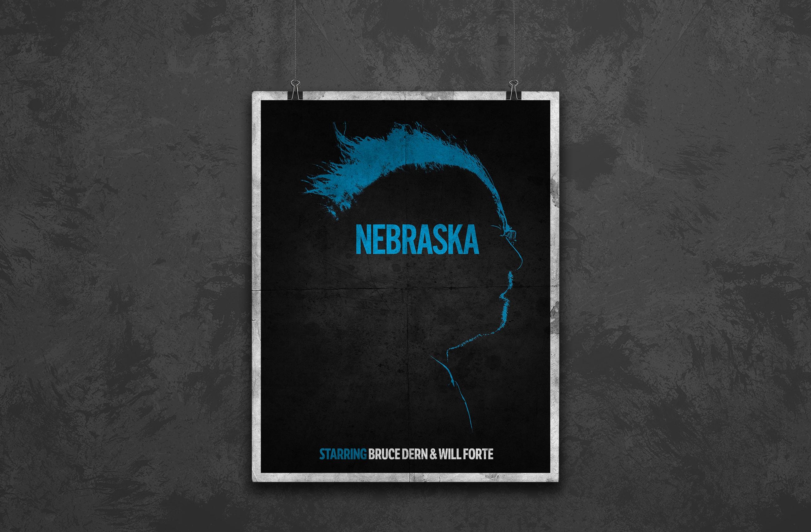 nebraska minimalist movie poster design