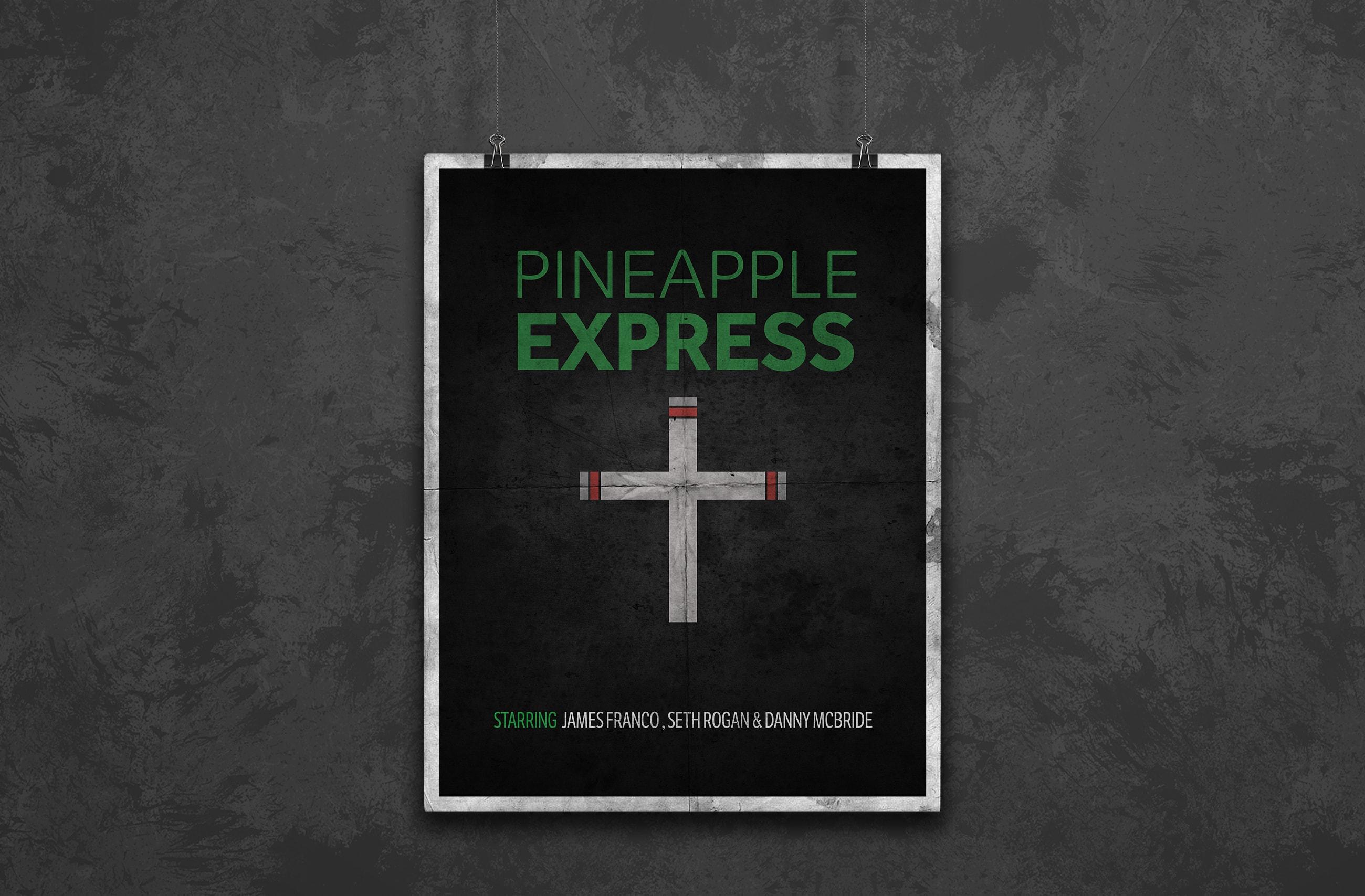 pineapple express minimal movie poster design