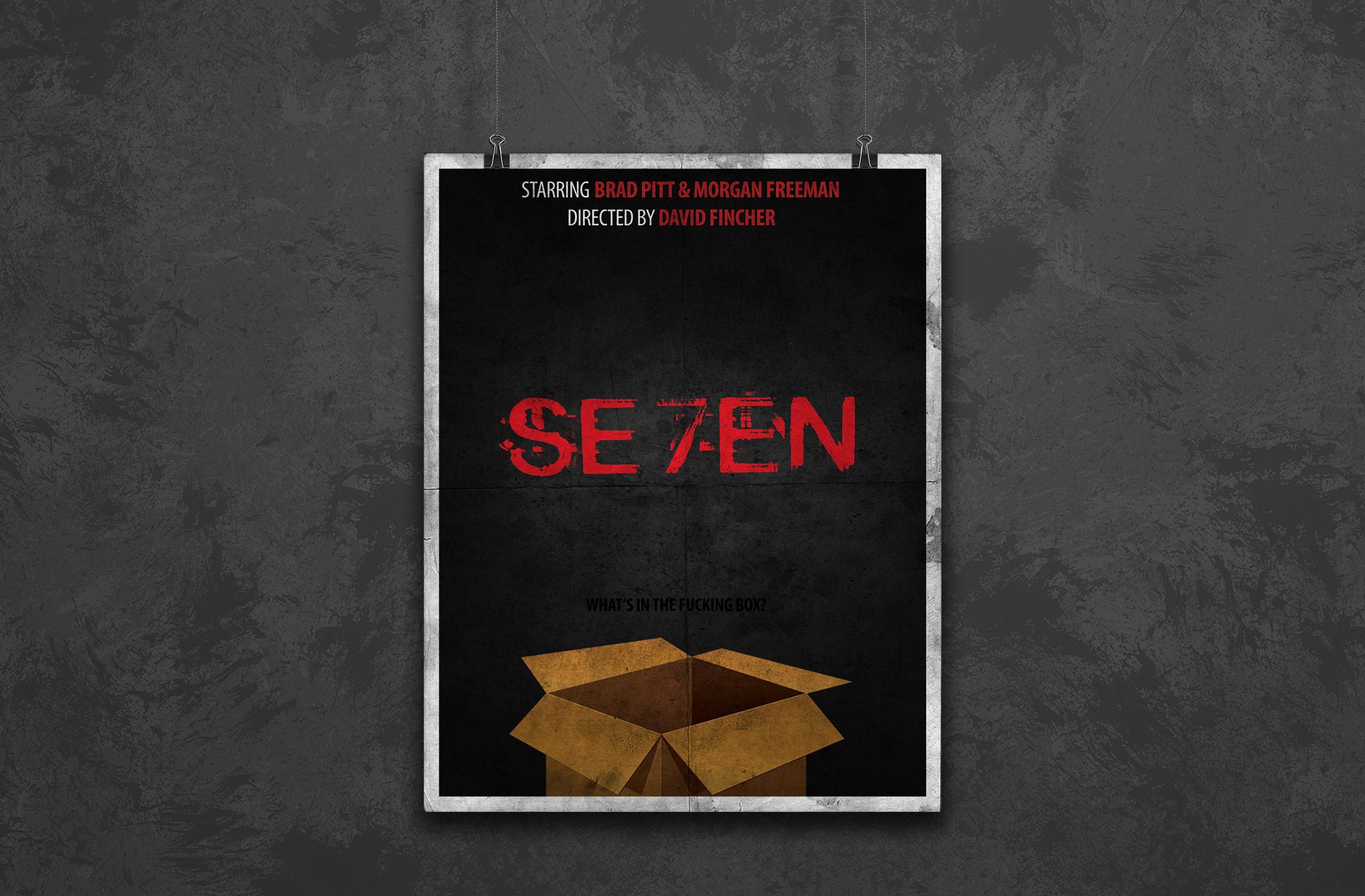 se7en minimalist movie poster design