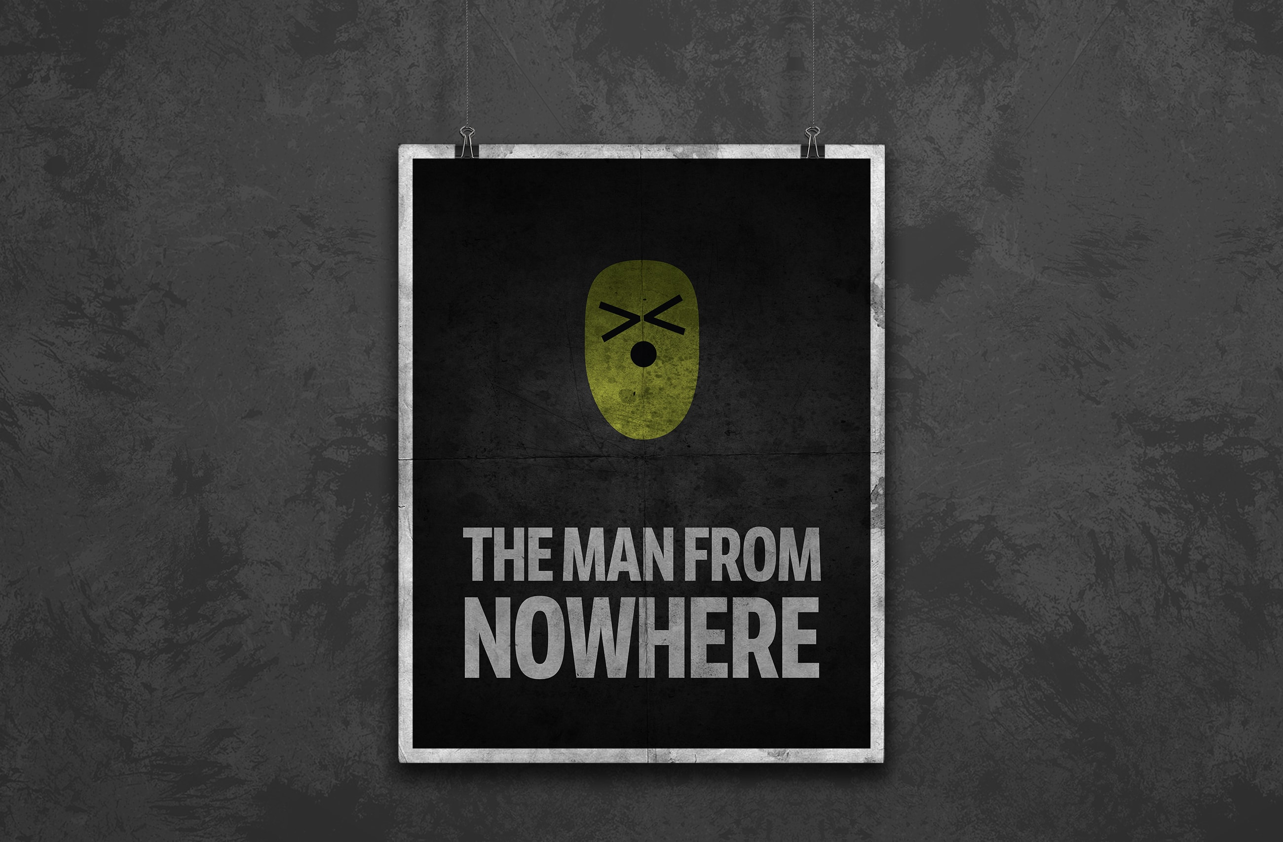 the man from nowhere movie poster design minimal