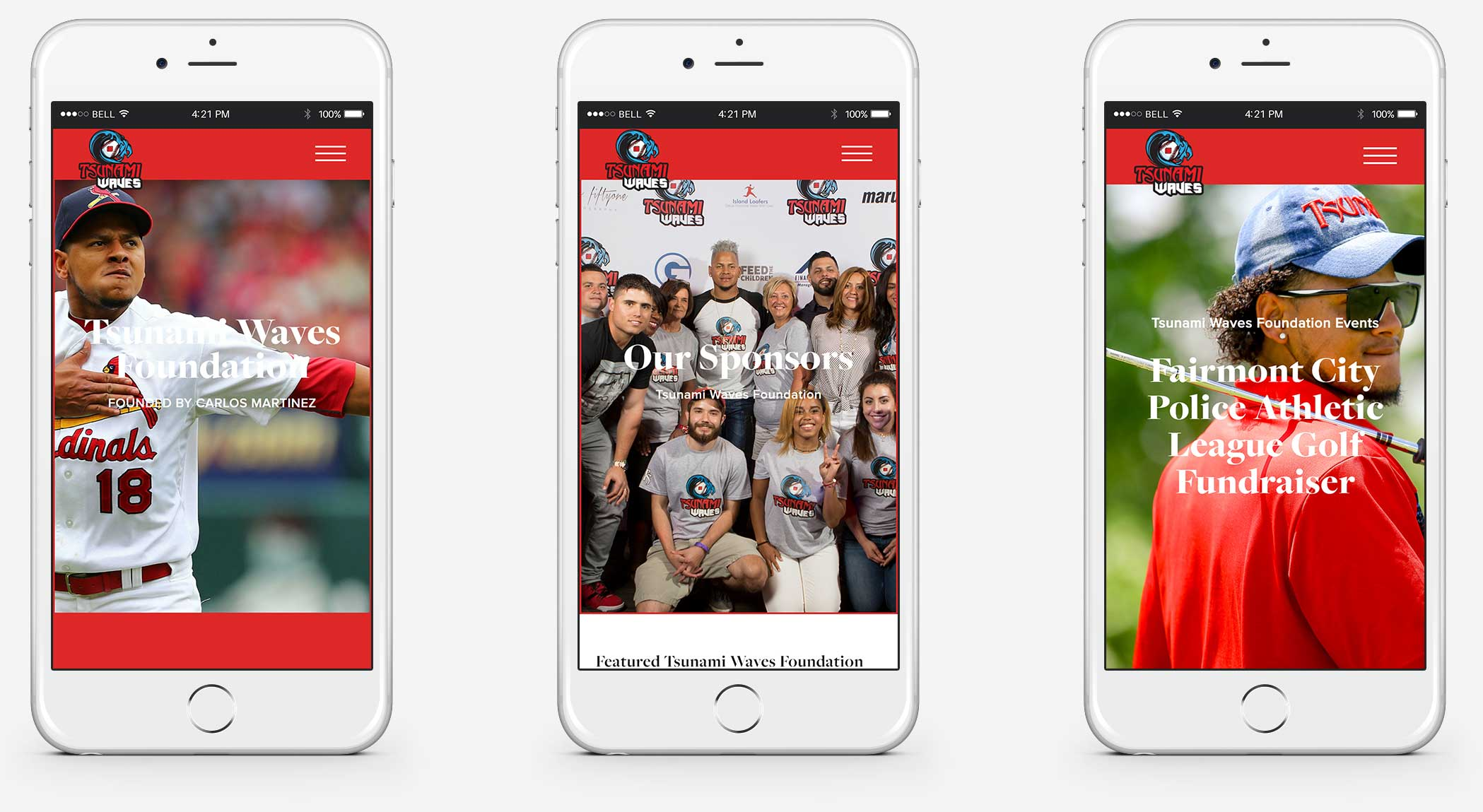 Responsive sports foundation web design services