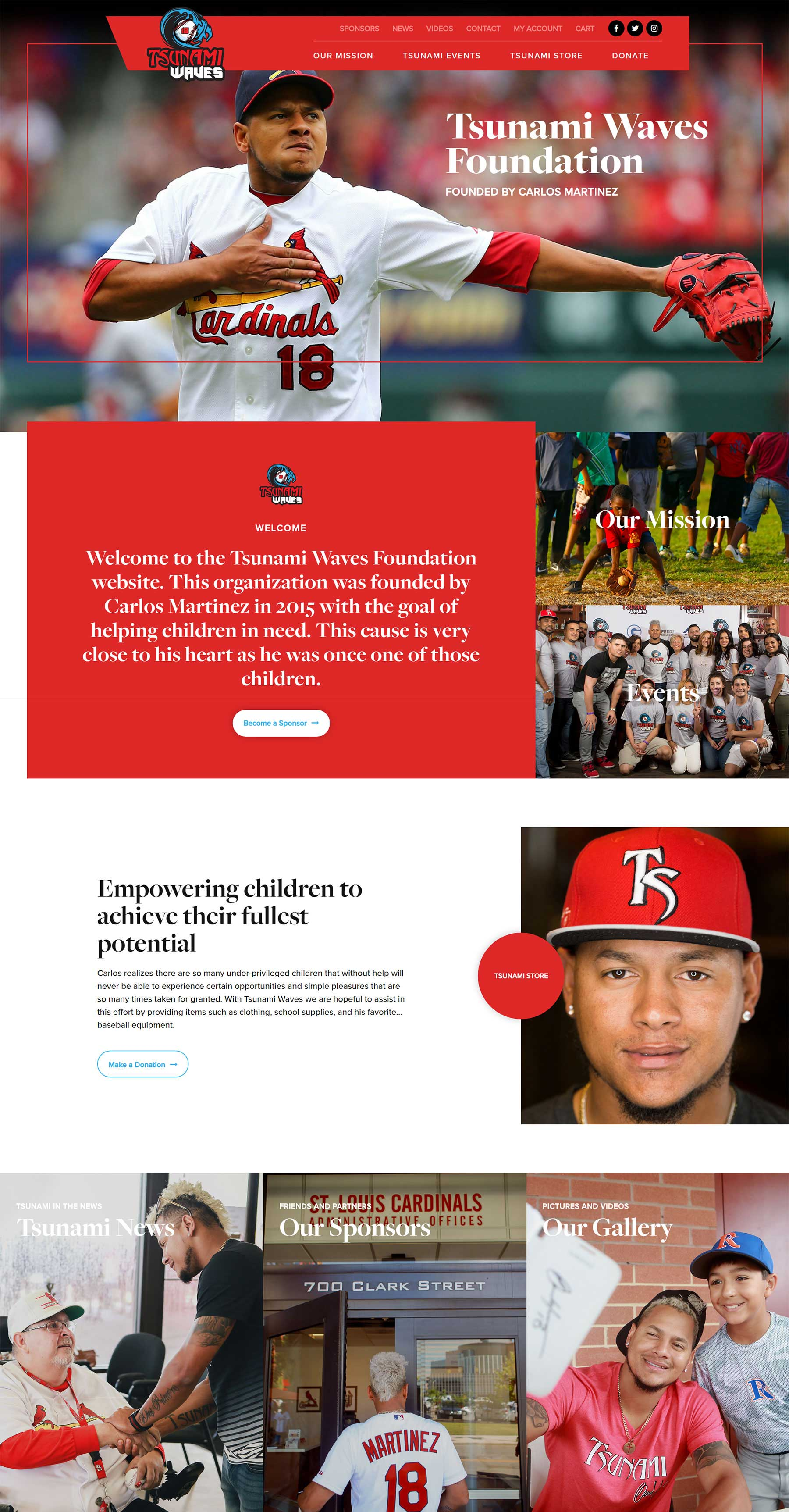 Best sports company website designers St. Louis